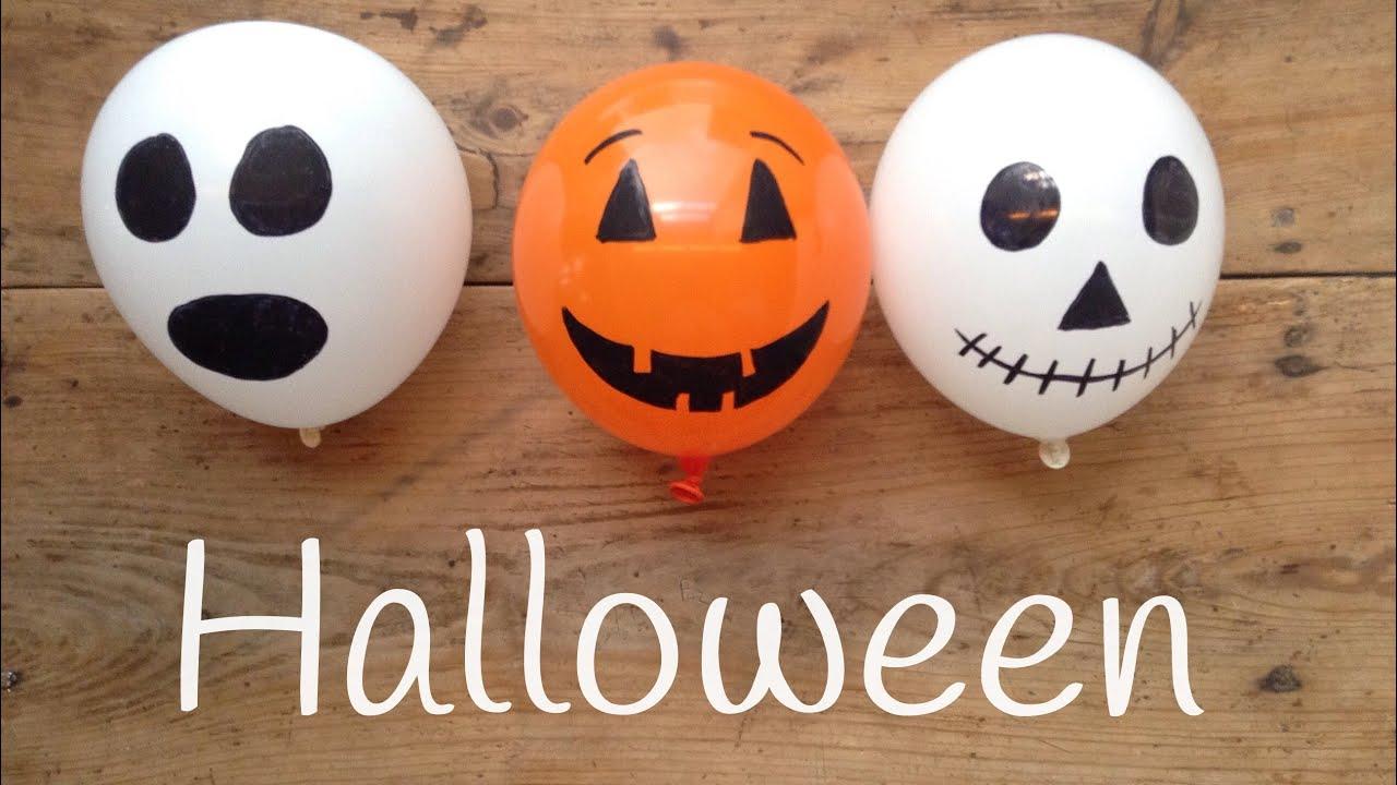 Decoracion para halloween con GLOBOS | Manualidades de HALLOWEEN para niños