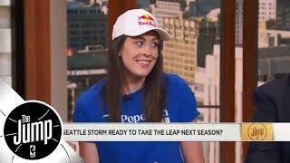 WNBA All-Star Breanna Stewart shoots down Tracy McGrady's idea of lowering basket   The Jump   ESPN