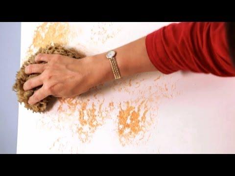 How to Sponge Paint a Wall | Paint Techniques