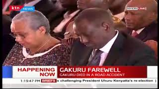 Hon Aden Duale speaks at the late Nyeri Governor Wahome Gakuru's burial service