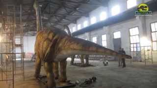 preview picture of video 'Moving Robot Brachiosaurus In Dinosaurs Manufacturer Factory DWD125-2'