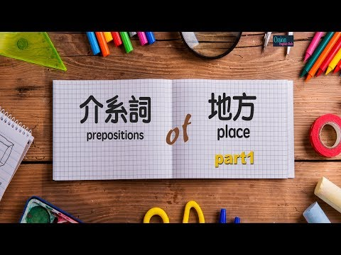 地方介系詞 part  1    in/on/under/next to/ in front of/ behind