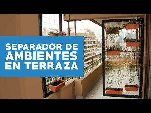 ¿Cómo hacer un separador de ambientes para la terraza?