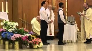 blessing of water during the Easter Vigil-St. Eugene Roman Catholic Church