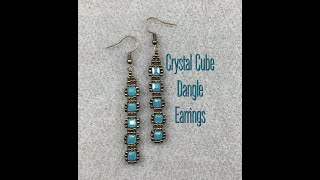 Easy Crystal Cube Earring Tutorial