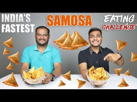 SAMOSA EATING CHALLENGE   Samosa Eating Competition   Food Challenge
