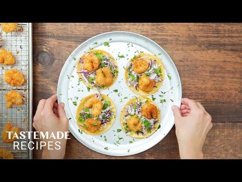 Easy & Delicious Bang Bang Shrimp Tacos | Tastemade