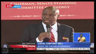 Senator Gideon Moi backs his move to pass Local Content Bill as a move to make Kenya a mining hub