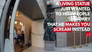 Living Statue makes people scream
