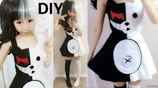 DIY Halloween Costume:  Half White and Half Black Evil Bear Costume Inspired by Monobear