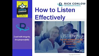 How to Listen Effectively and Positively-Leadership Training