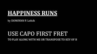 Happiness Runs - (A Donovan song) My Ukulele Interpretation