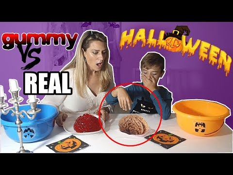 HALLOWEEN GUMMY VS REAL