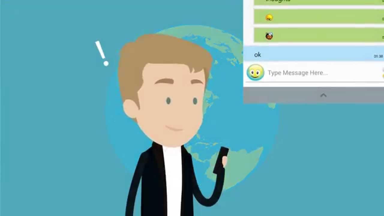 Messenger App - explainer video sample
