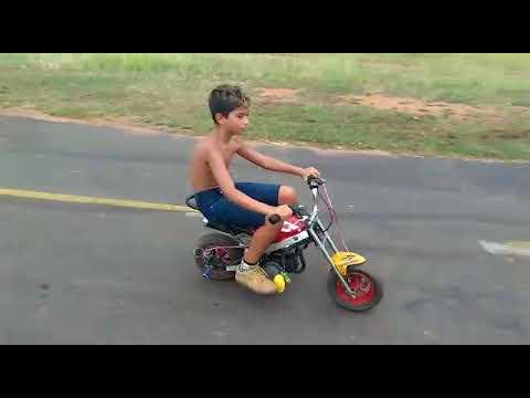 Andando na minha mini moto no 12 no arroio dos ratos