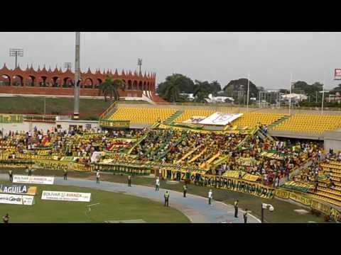 """""""Rebelion Auriverde Norte - Real Cartagena 3 - Bogota 1"""" Barra: Rebelión Auriverde Norte • Club: Real Cartagena"""