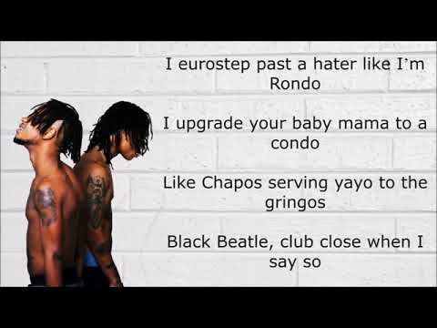 Rae Sremmurd   Black Beatles ft  Gucci Mane Lyrics On Screen OFFICIAL