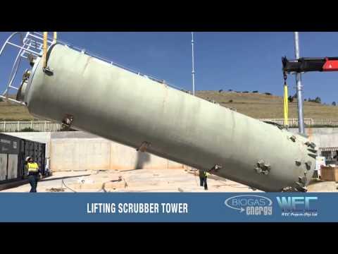 WEC Biogas Plant Installation Timelapse