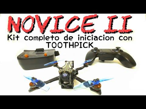 NoviceII: Kit completo para empezar a volar FPV con un toothpick