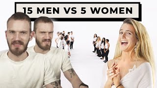 15 Men vs 5 Women is Cringe - Jubilee React #4