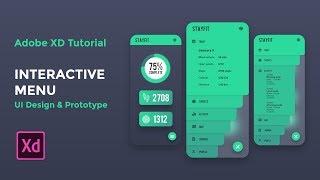 Interactive Menu (UI Design & Prototype) - Adobe XD Tutorial [2019]