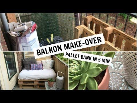 BALKON MAKE-OVER | PALLET BANK IN 5 MINUTEN | Sophie Hol