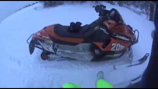 покатушки на снегоходах холмы 4х4