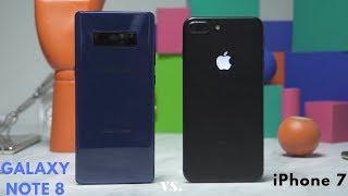 Samsung Galaxy Note8 vs Apple iPhone 7 Plus: Battle Vid