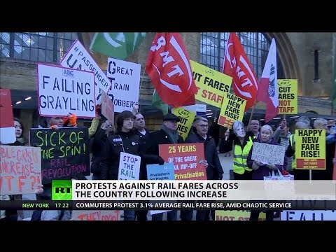 Protests against rail fares across the country following 3.1% increase