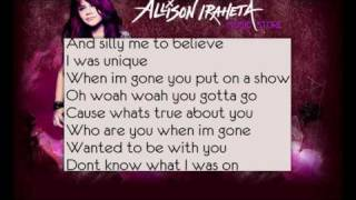 Allison Iraheta-Friday I'll Be Over You (Lyrics)