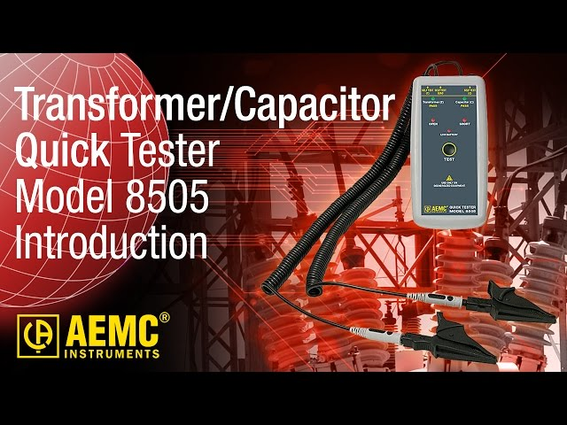 AEMC® - Quick Tester Model 8505 - Introduction at Electricity Forum