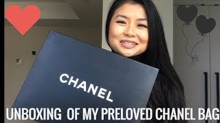 How I Bought My First Preloved chanel Purse And unboxing
