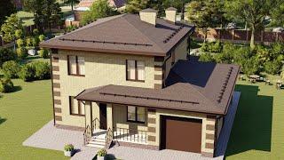 Проект дома 228-A, Площадь дома: 228 м2, Размер дома:  13,1x9,6 м