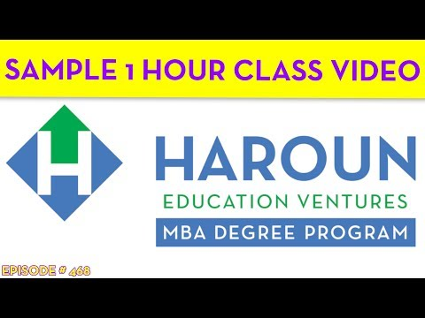 Our MBA Degree Sample Class
