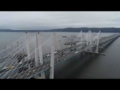 """NY Gov. Andrew Cuomo officially opened the second span of the new Hudson River Bridge that bears his father's name, and criticized President Trump as being """"obsessed"""" with building walls instead of bridges. (Sept. 7)"""