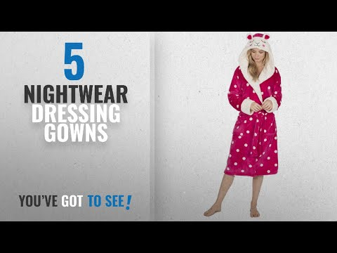Top 10 Nightwear Dressing Gowns [2018]: KATE MORGAN Ladies Soft & Cosy Hooded Dressing Gown