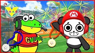 Mario Sonic Olympics Let's Play Combo Panda Vs. Gus