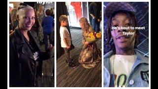Wiz Khalifa Amber Rose Take Their Son To Meet Taylor Swift
