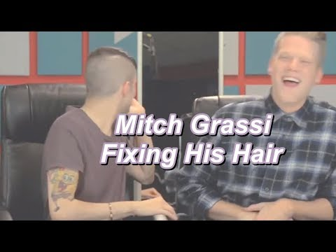 Mitch Grassi [Fixing His Hair]