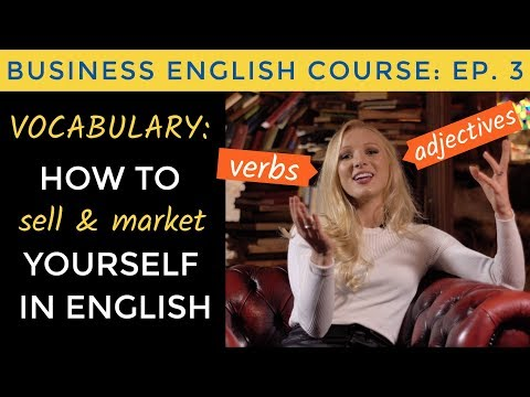 Business English Vocabulary for SELLING & DESCRIBING yourself | Business English Course Lesson 3