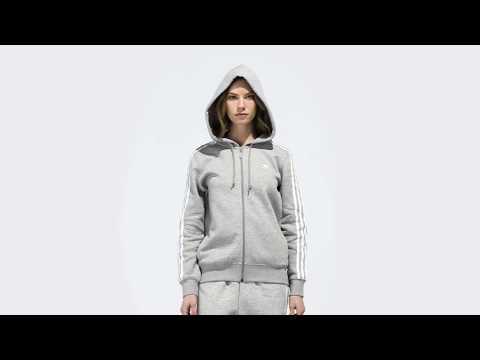 adidas Originals 3-Streifen Zip Hoodie grau DN8155