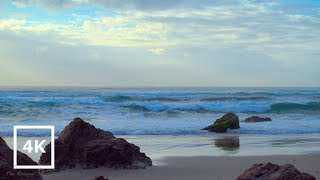 OCEAN Wave Sounds to Relax, Sound of Waves at Beach to Sleep, Study | Sound of the Sea in 4K