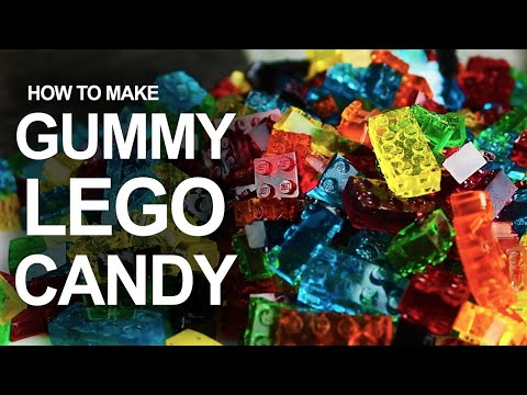 Make LEGO-Shaped Gummy Candy With A DIY Silicone Mould