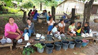ตะลอนลาวก่อนไปเวียดนาม EP9:ตลาดขายของป่าข้างทาง เมืองมหาไซ สะออนเห็ดปลวก กินส้มหมากค้อ