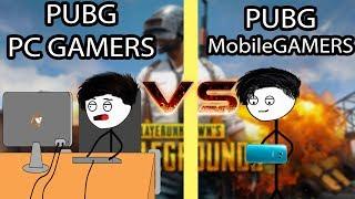 PUBG Mobile Gamers VS Pc Gamers