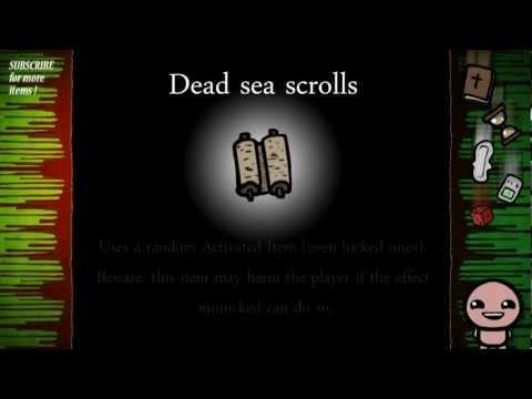 Binding of Isaac: Rebirth Item guide - Dead Sea Scrolls