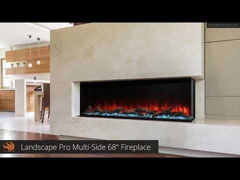 "Landscape Pro Multi-Side 68"" Electric Fireplace"