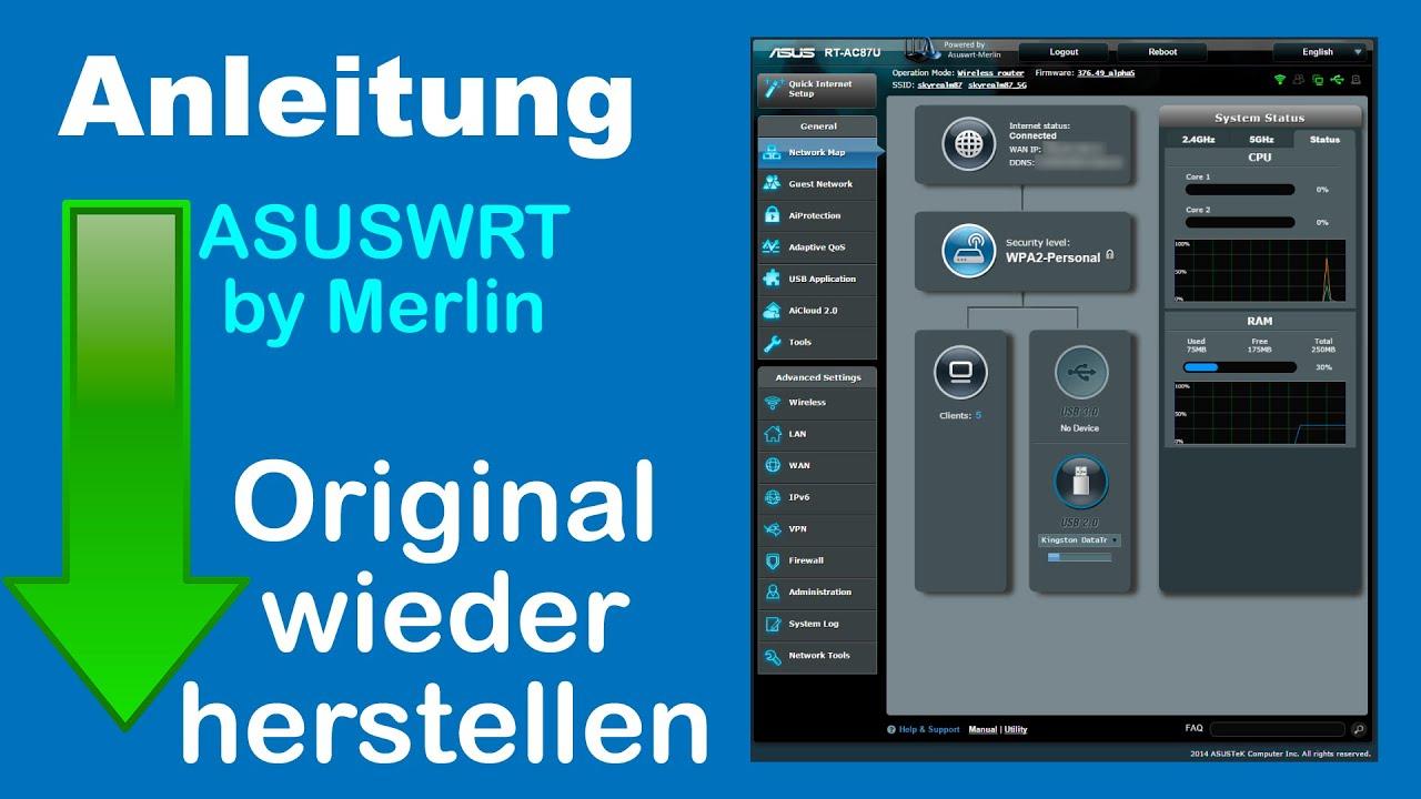 ASUSWRT by Merlin auf einem ASUS Router installieren (Anleitung) 2