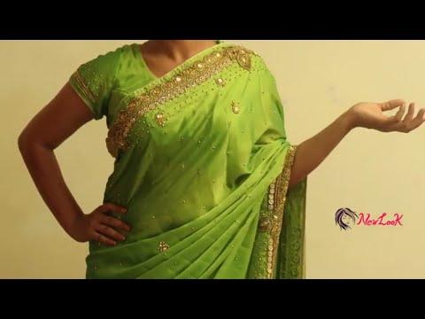 How To Drape Your Saree With A Lehenga   Green Silk Saree Hack!   New Look