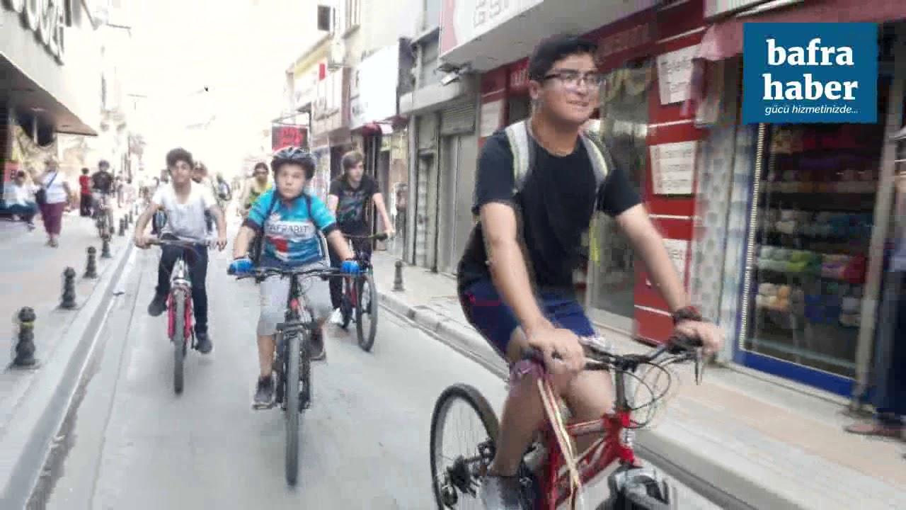Bafra'da 19 Mayıs Halk Bisiklet Turu